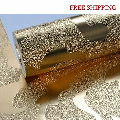 Luxury Metallic Gold Silver Wallpaper Vinyl Glittered Home Decor Modern 10M Roll
