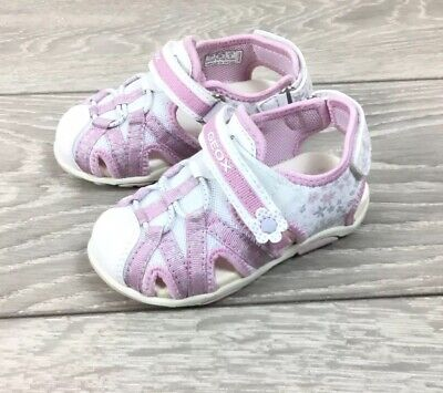Geox Baby Girls Leather Floral Summer Holiday Sandals 24 7 Uk Infant Kids Childr