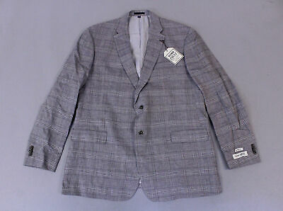 Jos. A. Bank Men's 1905 Collection Plaid Sportcoat MC7 Gray 12LU Size 46L NWT