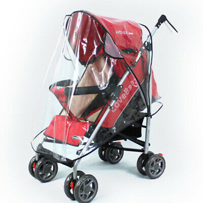 Universal Waterproof Stroller Cover Plastic Wind Shield Pushchairs Rain Shades*
