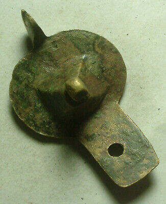 Rare Genuine Original Byzantine bronze decorated cross pendant artifact intact
