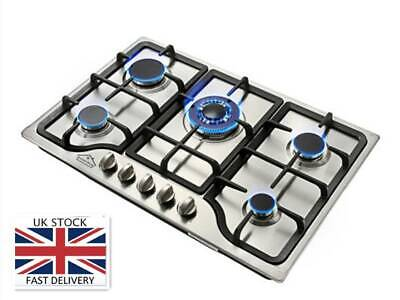 Anmashome Kitchen 59cm Built-in 4 Burner Gas Hob//Cooktop with Tempered Glass ~UK