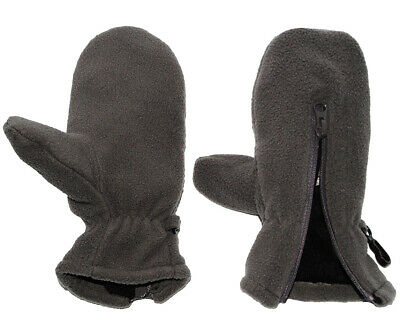 Very Soft _ Fleece Mittens - with Zip - Sizes: 1 to 5 Years