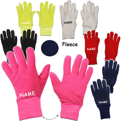 """Fleece Gloves - """" Colour Selection """" - Sizes: 3 to 5 Years - Incl. Name - Le"""