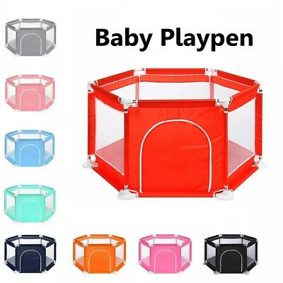 Baby Playpen Playing house Interactive Kids Toddler Room With Safety Gate 6 Side