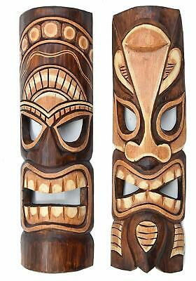 Primitive Art Mod N2 Hand Crafted Wooden Art Native Tribal Tiki Mask 30 cm Owl