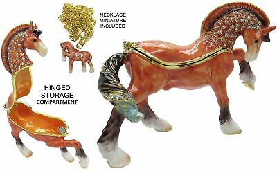 Horse Jeweled Trinket Box with Austrian Crystals #3