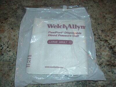 New Sealed Welch Allyn Large Adult 12 Disposable Blood Pressure Cuff Flexiport