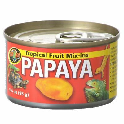 LM Zoo Med Tropical Friut Mix-ins Papaya Reptile Treat 4 oz