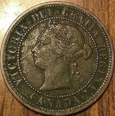 1876 H Canada Large Cent Penny 1 Cent