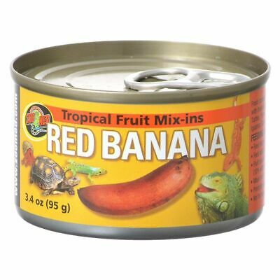 LM Zoo Med Tropical Friut Mix-ins Red Banana Reptile Treat 4 oz