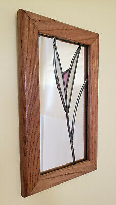 Jim Shore Heartwood 4021718 BELIEVE Resin Stained Glass Window Shaped Plaque