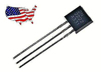 ' 2N2222A (20 pcs) 2N2222 TO-92 NPN Transistor - from USA
