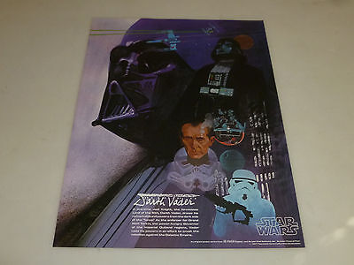 Star Wars Darth Vader Coke Burger Chef Promo Coca Cola Poster 1977 Vintage >>