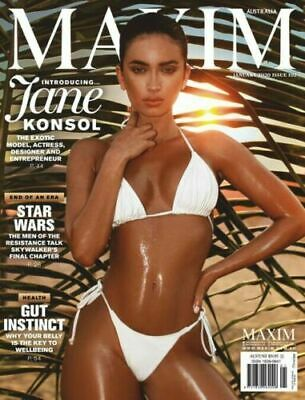 MAXIM AUSTRALIA January 2020 ISSUE 102 Jane Konsol - Star Wars Skywalker's NEW
