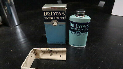 Dr Lyons BOXED UNUSED Tooth Powder Tin Dental Pharmacy