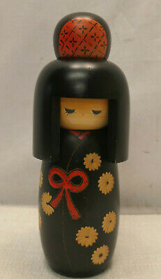 Kokeshi Creative Style Wooden Japanese Doll Handpainted Wood Vintage  #589