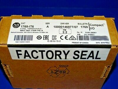 2019 FACTORY SEALED Allen Bradley 1769-IT6 /A Thermocouple CompactLogix
