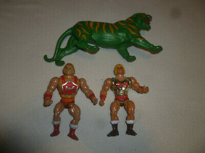 Vintage Action Figure Lot Motu Battle Cat Heman Thunderpunch Flying Fists 1980S