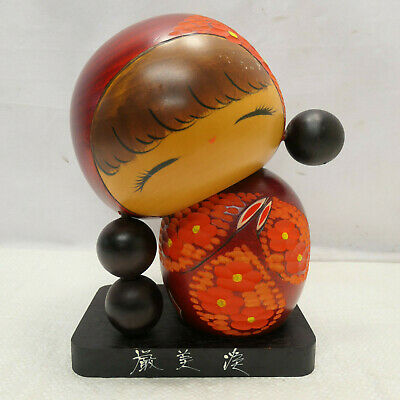 Kokeshi Creative Style Wooden Japanese Doll Handpainted Wood Vintage  #597