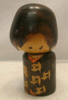 Kokeshi Creative Style Wooden Japanese Doll Handpainted Wood Vintage  #601