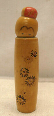 Kokeshi Creative Style Wooden Japanese Doll Handpainted Poker Wood Vintage  #604