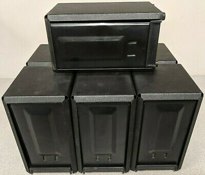 Traex Two Sided Table Top Napkins Black Dispenser LOT of 7