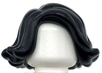 Lego New Black Minifigure Hair Female Short Swept Sideways Piece