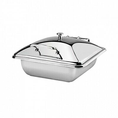 Athena Induction Chafer Dish Rect 1/2 Size Stainless Steel Lid Fuel Heated