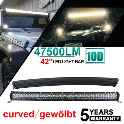 "42"" Curved 795W Cree LED Lichtbalken Offroad Flood Spot Combo Beam Light bar SUV"