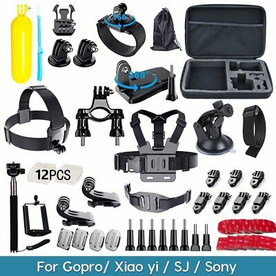 60pcs Action Camera Accessories Kit For GoPro Hero Sony Cam Mount SJCAM Head UK
