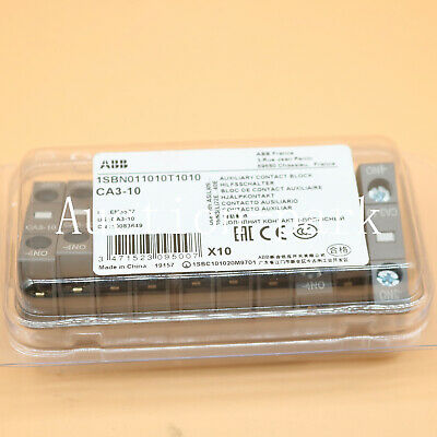 10PCS NEW FOR ABB Contactor Auxiliary Contact CA3-10