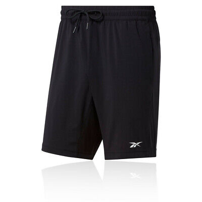 Reebok Mens WOR Woven Training Gym Fitness Shorts Pants Trousers Bottoms - Black
