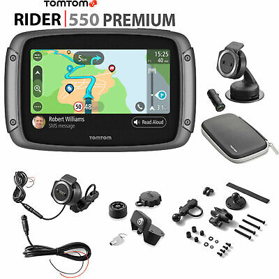 TomTom Rider 550 Premium Motorcycle  SATNAV Lifetime World Maps + Speed Cameras