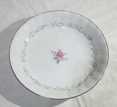 """Coupe Soup Bowl Royal Swirl by FINE CHINA OF JAPAN Pink Rose  7.5"""""""