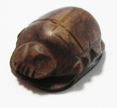 Zurqieh -As15984- Ancient Egypt. New Kingdom Stone Heart Scarab. 1400- 1200 B.c