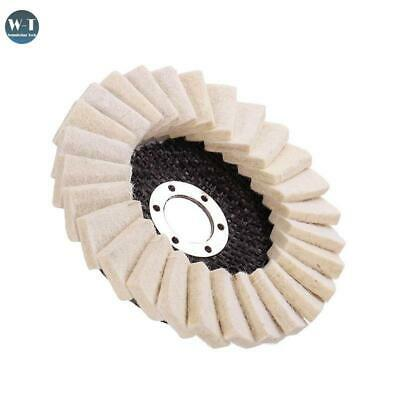 125mm Wool Felt Flap Polishing Wheel Disc Angle Grinder Buffing Pads For Marble