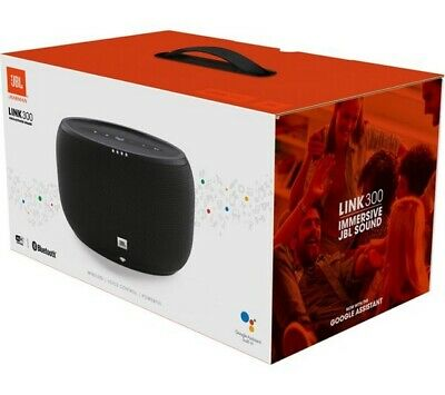 New Sealed JBL LINK 300 Voice Activated Portable Bluetooth Speaker With Google