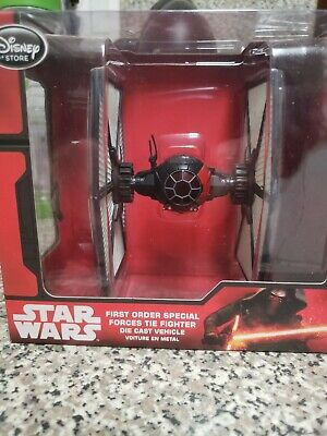 Star Wars First Order Special Forces Tie Fighter Die Cast Disney Store NEW
