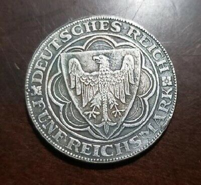 WW2 WWI German Elite coin SS Kampft Weiter 1 Schilling Eagle 1927 Reich