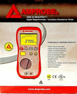 Amprobe AMB-45 Insulation Resistance Tester New