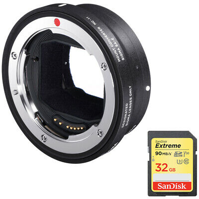 Sigma Mount Converter MC-11 for Canon Lenses - Sony E Mount + 32GB Memory Card