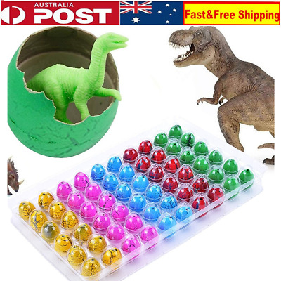 60X Colorful Dinosaur Eggs Hatching Growing Dinosaur Baubles Add Water Grow Toys