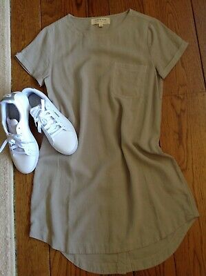 NEW Anthropologie CLOTH & STONE Pullover Dress Button Back XS NWT$148