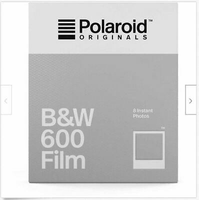 Polaroid Originals Black and White Glossy Instant Film for Polaroid 600