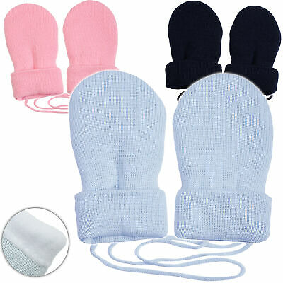 """Very Soft _ Merino-Wool Knitted & Fleece - Mittens - """" Color Mix """" - Size"""