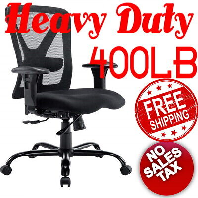 500lbs Heavy duty Big and Tall Office Chair Wide Ergonomic Computer Mesh desk