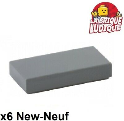 Lego 4x Tile plate smooth 1x2 with Groove grey//light offer gray 3069b NEW