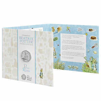 2018 Beatrix Potter Peter Rabbit UK 50p BUNC Coin in Royal Mint Packaging