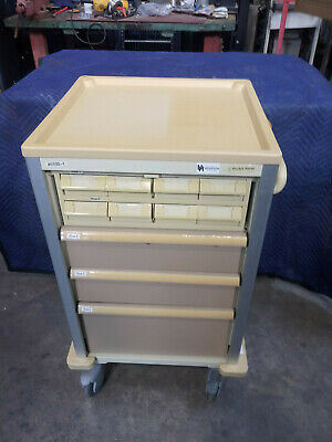 Pocket Nurse rolling PHARMACY / MED Medical CART Crash Pill Medicine Cart